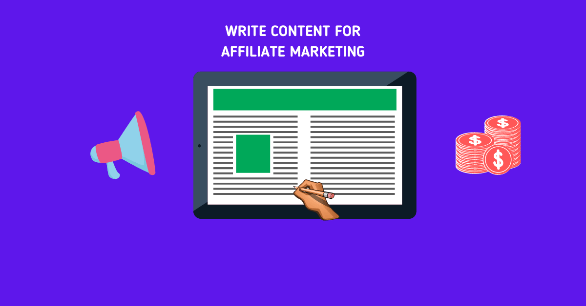 how to write content for affilite marketing